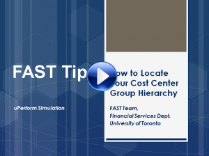 Locating your Cost Center Group Hierarchy