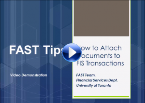 Attach Electronic Documents to FIS Transactions