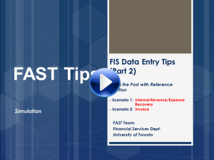 FIS Data Entry Tips 2