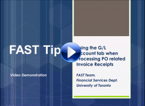 When and How to Use the G/L Account tab when Processing an Invoice for a PO